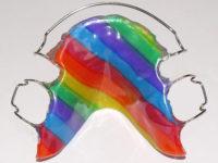 plaque multicolore